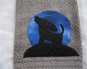Howling Basset Kitchen Towel