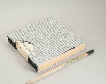 Small Square Journal, Notebook or Sketchbook in Black and White