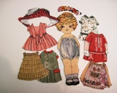 Child's  Fabric Paper Doll playset  travel church toy  Mary Lou Quiltsy handmade
