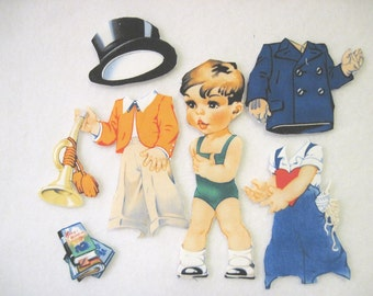 Children's Fabric paper Doll Cutie - Tim