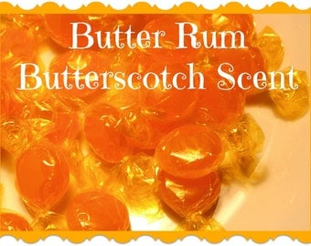 BUTTER RUM Butterscotch Candy Scented Soy Wax Melts * Nostalgic * Yummy * Food * Sweets * Old Fashioned Scent * Maximum Scented