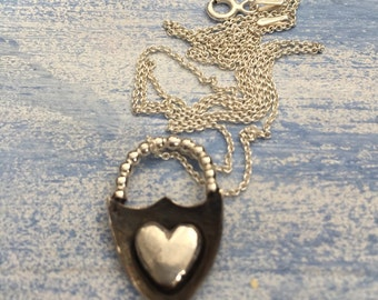 Love Lock sterling silver necklace