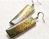 Mustard earrings - Autumn jewelry (E033)
