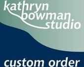 Custom order for  cl20672