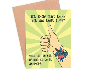 Funny Congratulations Card | Funny Good Job Card | Job Well Done Card  - That Thing You Did