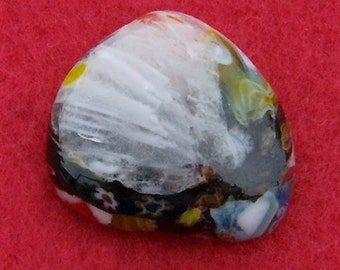 Fused Glass Cabochon - Exquisite Meteor Shower Free Form by JewelryArtistry - DC401