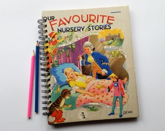 Recycled Book Journal & Notebook, Favourite Nursery Stories