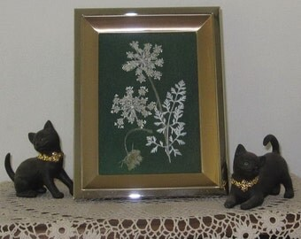 Queen Annes Lace 5x7 in elegant gold frame