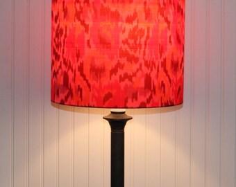 Orange Silk Drum Shade - Lamp Shade - Multi Color - Orange Lamp Shade - Handwoven Silk - Modern Lamp Shade - Chic - Silk Lamp  Shade
