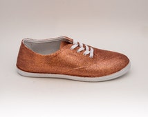 Glitter | CVO Sedona Sun Orange Canvas Sneakers Tennis Sneakers Shoes