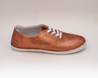 Glitter | CVO Sedona Sun Orange Canvas Sneakers Tennis Sneakers Shoes