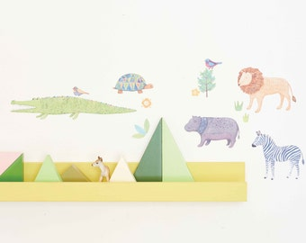 Mini Fabric Wall Decal - Safari (reusable) NO PVC