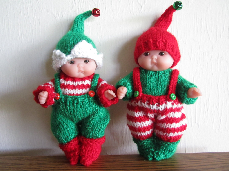Christmas Elf Jumper Knitting Pattern : Santas Itty Bitty Elf Knitting Pattern 5 Inch Chubby Lots