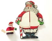 Vintage Die Cut Santa Claus Honeycomb Tissue Paper Beistle Co Table Centerpiece Party Favor BONUS