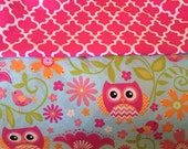 Custom Order for Jessica Grinolds (Dolly Diaper Bag in Pretty Pink Owls)