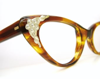 Vintage 50s Cat Eye Glasses Eyeglasses or Sunglasses Frames