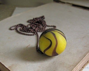 Bananarama Shooter Marble Necklace Long Jewelry