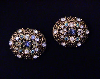 Vintage Pair HOLLYCRAFT Blue Scatter Pins