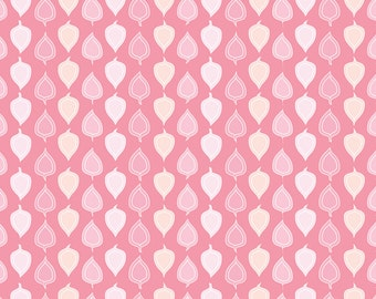 Woodland, Fabric, Leaf,Leaves,Organic, Cotton, Sateen,Woodland Night Collection,Pink,Gray,Baby,Girl, Custom Colors, Exclusive Design, 1 yard