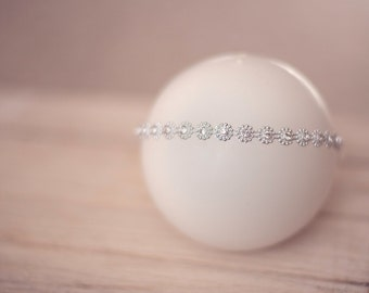 Rhinestone Diamond Sparkly Headband, Baby Diva - newborn baby photo prop