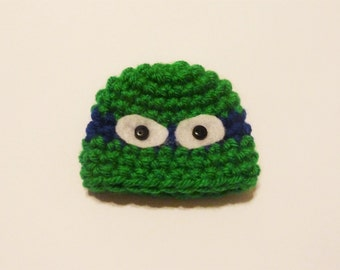 Holiday Elf Buddy TMNT Hat - Crochet Holiday Dress Up Hat for Decorative Elf