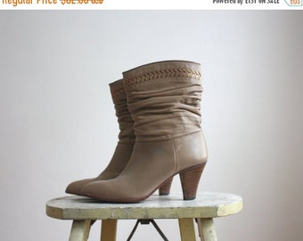 VACATION SALE. golden arrow boots / size 6