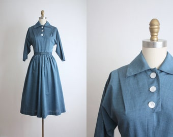 mother of pearl 1950s dress