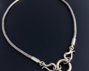Sterling Silver Chain Heavy Sterling Silver Interchangable Pendant Chain Handmade By Joy Kruse Wild Prairie Silver