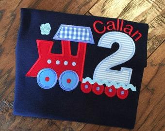 Train Birthday , Boys Train Shirt, Personalized Train shirt, Thomas the Train Birthday, Train shirt for Boys, Monogrammed Train shirt, Train