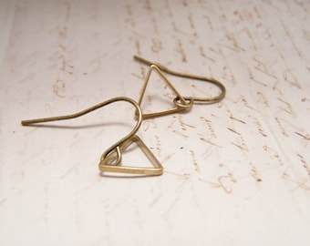 Simple Tiny Triangle Earrings