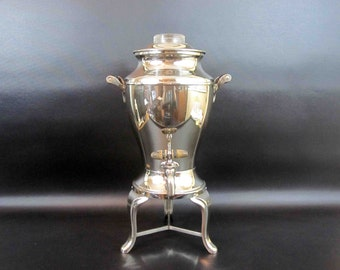 Vintage 1920's Coffee Percolator in Chrome by Universal - Landers, Frary & Clark