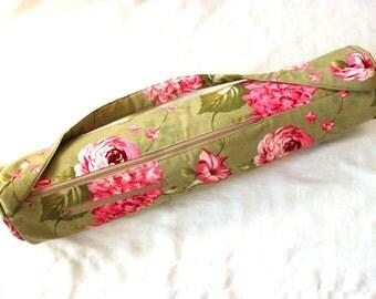 Yoga mat bag - yoga mat carrier - yoga mat tote - yoga gift - gift for yoga lover - yoga mat bag for women - padded strap - zipper pocket