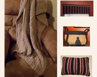 Mens Crochet Pattern, Masculine Decor, Gentlemanu0027s Quarters, Decorate Man  Cave, Mens Afghan