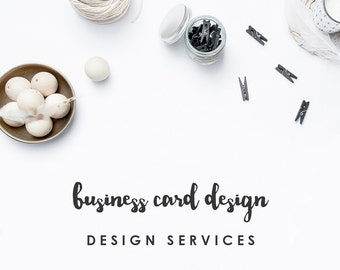 Custom Business Card Design - Branding for Your Shop or Business