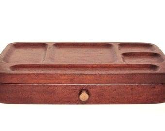 Vintage Swank Dresser Valet - Two-Tiered Hinged Valet - Made in Japan - Men's Wooden Dresser Valet