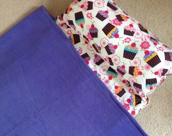 Personalized Nap  Mat. Great for daycare, preschool or kindergarten, girls, cute cupcakes