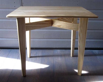 Solid Ash Side Table