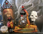 Vlad's Ashes Potion Bottle dollhouse miniature, vampire, vampyre, dracula, spooky, haunted, Halloween in 1/12 scale