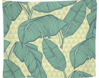 Seamless Palm Leaves Tapestry