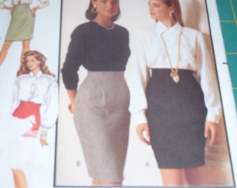 Butterick 5580 Fast & Easy Misses Skirt  Size 12- 16   New Uncut