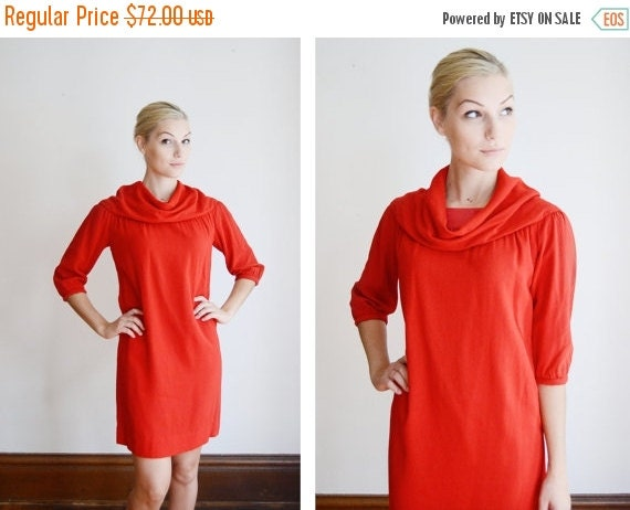 Guy Laroche 60s Red Dress - XS