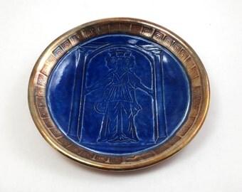 Goddess Hecate Hekate Offering Bowl Handmade Raku Pottery