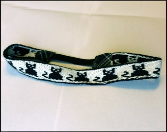 Black Cat Tablet Weaving Headband