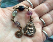 The Loving Kindness Mala in Copper and Rainbow Fluorite. A fundraiser for Alzheimers Research