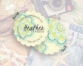 Custom Business Card, Business Branding, Custom Logo, Business Card Design, Calling Card// Heather S-S39 UU1
