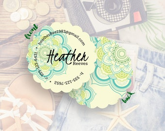 Custom Business Card, Business Branding, Custom Logo, Business Card Design, Calling Card// Heather S-S39 UU1
