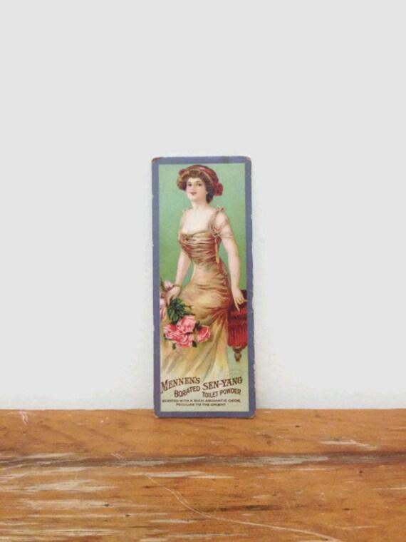 Vintage Original Trading Card for Mennen Toilet Powder - Advertisement for Borates Sen-Yang