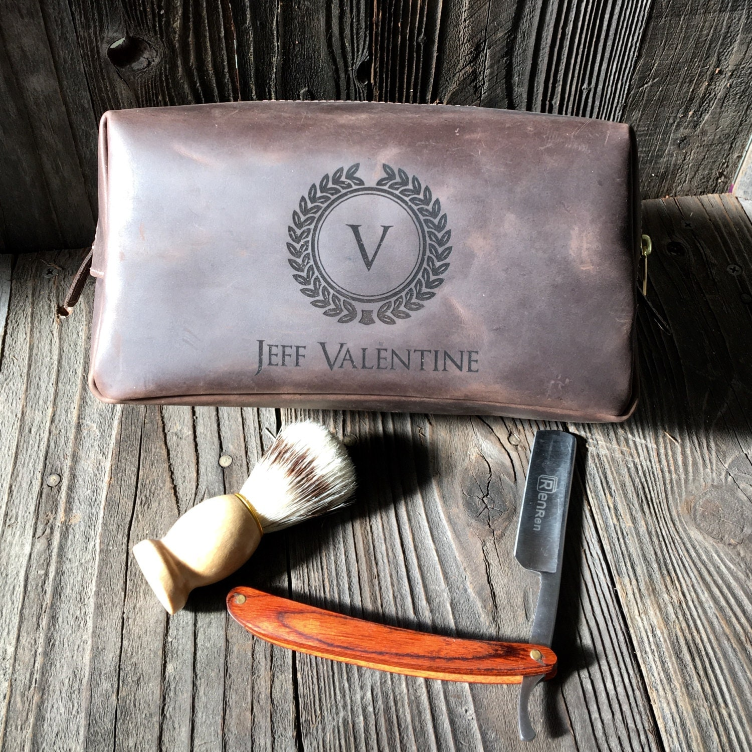 Personalized Gifts: Personalized Dopp Kit Mens Toiletry Bag Groomsmen Gifts