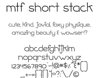 MTF Short Stack Font