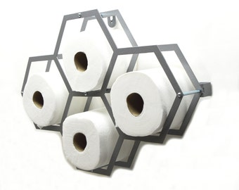 Geometric Design Toilet Paper Storage 4 Roll - Free USA Shipping